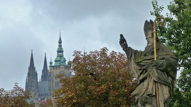 socha v Praze